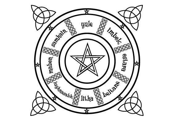 Pagan Wheel of the Year Designs & Drawings Craft Cut File By Creative Fabrica Crafts
