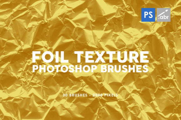Print on Demand: 30 Foil Photoshop Stamp Brushes Graphic Brushes By ArtistMef