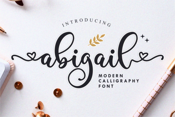 Print on Demand: Abigail Script & Handwritten Font By Nun Creatype