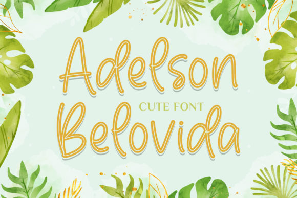 Print on Demand: Adelson Belovida Script & Handwritten Font By Typefar