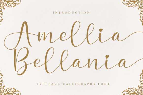 Print on Demand: Amellia Bellania Script & Handwritten Font By Creativewhitee