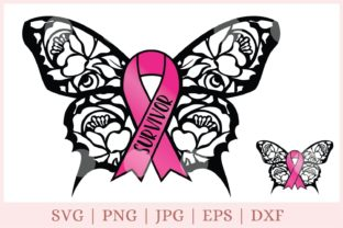 Awareness Ribbon, Breast Cancer  Graphic Print Templates By CrazyCutDesigns