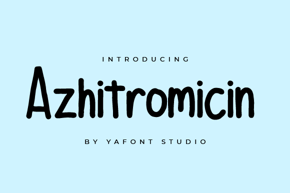 Print on Demand: Azhitromicin Script & Handwritten Font By Yafont