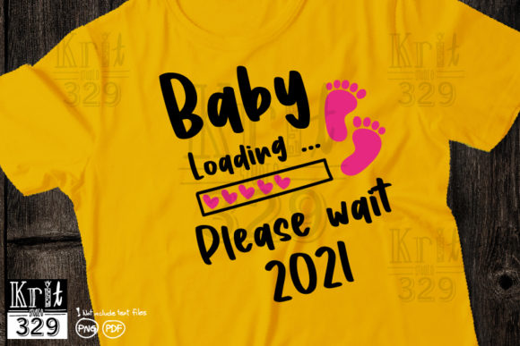Baby Coming 2021 Baby Footprint Loading Graphic Crafts By Krit-Studio329