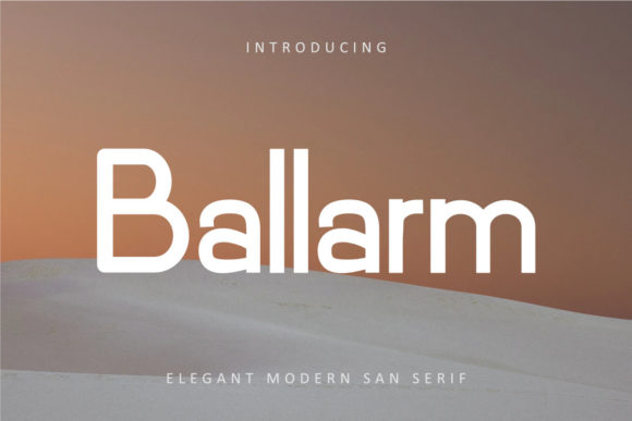 Print on Demand: Ballarm Sans Serif Font By rudhisasmito