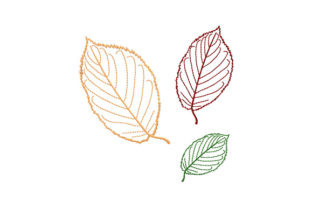 Print on Demand: Beech Tree Leaves Forest & Trees Embroidery Design By EmbArt