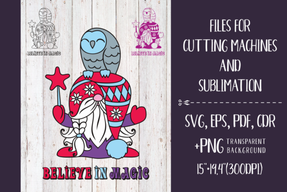 Print on Demand: Believe in Magic Christmas Gnome Svg Graphic Crafts By Olga Belova
