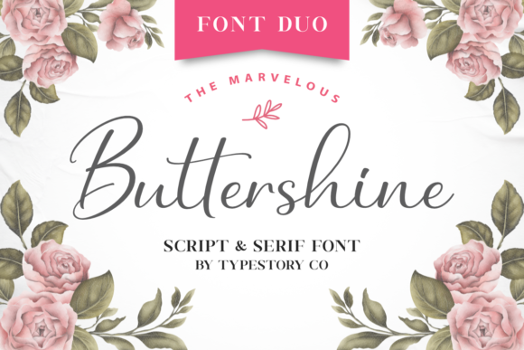 Print on Demand: Buttershine Script & Handwritten Font By Typestory
