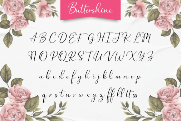 Buttershine Font Downloadable Digital File