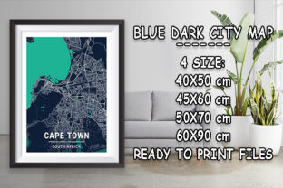 Print on Demand: Cape Town - South Africa Blue Dark City Graphic Photos By tienstencil