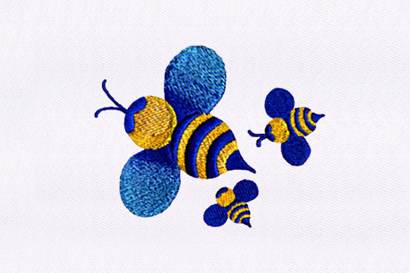 Charming Bees Bugs & Insects Embroidery Design By DigitEMB