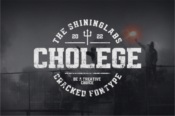 Print on Demand: Cholege Display Font By shininglabs