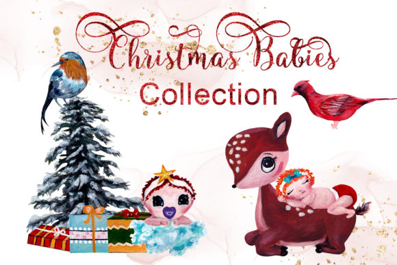 Print on Demand: Christmas Babies Collection Graphic Illustrations By Andreea Eremia Design