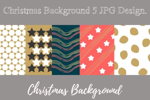 Print on Demand: Christmas Background New Year's Pattern Graphic Patterns By Momixzaa