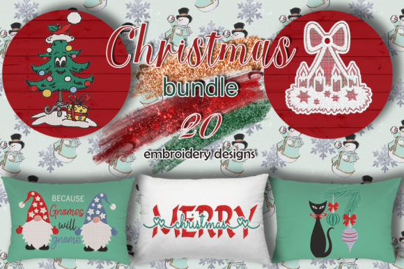 Print on Demand: Christmas Bundle  By Embroidery Shelter