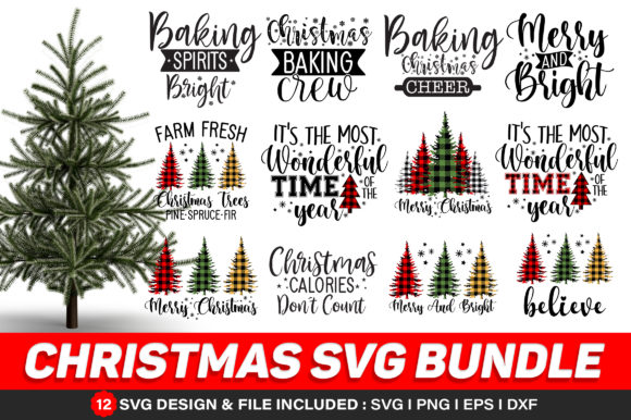 Christmas Bundle Graphic Print Templates By Craftingstudio