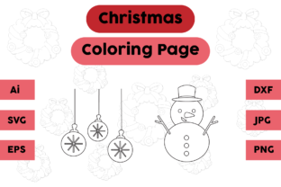 Christmas Coloring Page Snow Lamp Set Graphic Coloring Pages & Books Kids By isalsemarang