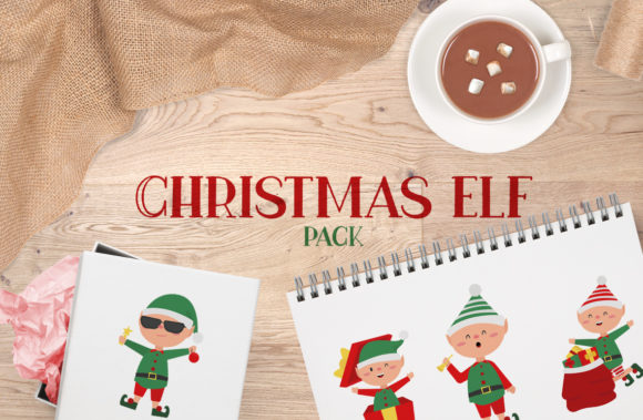 Christmas Elf Pack Graphic Crafts By Firefly Designs