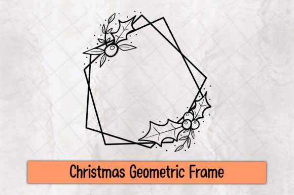 Christmas Geometric Frame Graphic Crafts By TakeNoteDesign