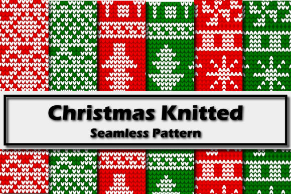 Print on Demand: Christmas Knitted Seamless Pattern Graphic Patterns By Mahesa Design
