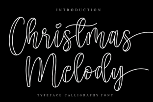 Print on Demand: Christmas Melody Script & Handwritten Font By Creativewhitee