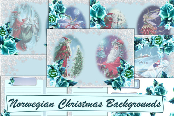 Print on Demand: Christmas Norwegian Santa Backgrounds Graphic Backgrounds By The Paper Princess