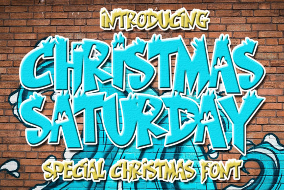 Print on Demand: Christmas Saturday Display Font By Eddygoodboy