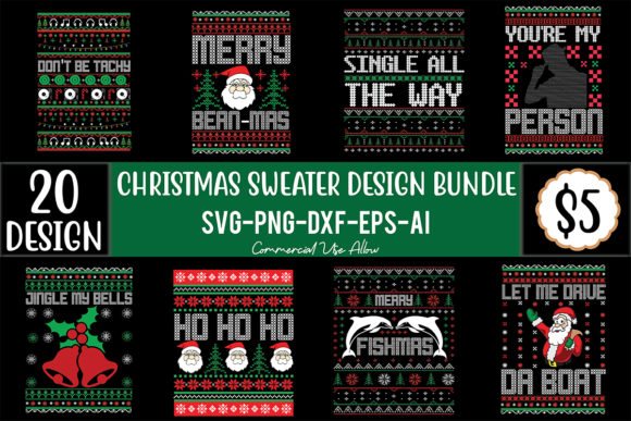 Christmas Sweater Design Bundle  von craftstore