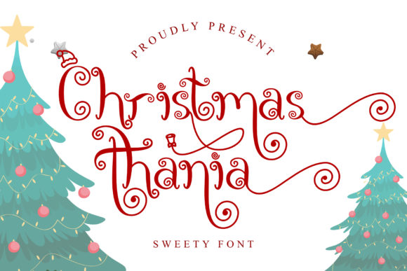 Print on Demand: Christmas Thania Script & Handwritten Font By andreyfontdesign