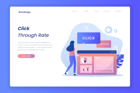 Click Through Rate Illustration Graphic Illustrations By HengkiL