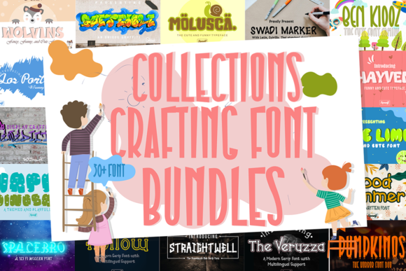 Print on Demand: Collections Crafting Font Bundle  von sipanji figuree