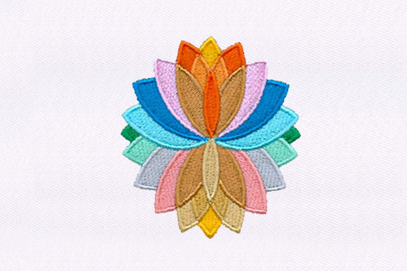 Colorful Flower Single Flowers & Plants Embroidery Design By DigitEMB