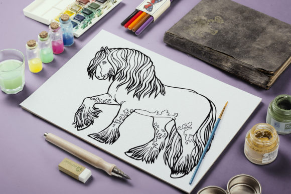Coloring Pages Graceful Horses 12 Files Graphic