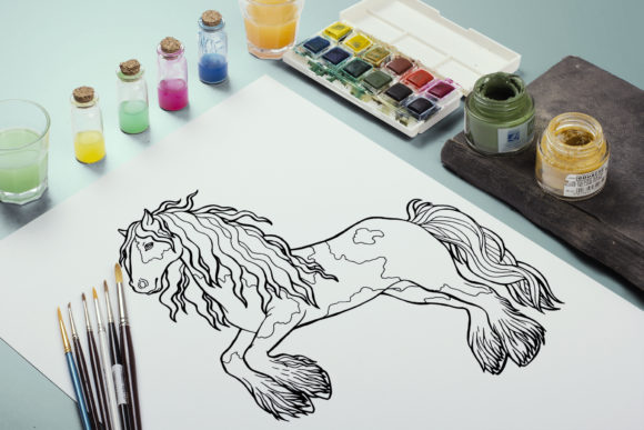 Coloring Pages Graceful Horses 12 Files Graphic Item