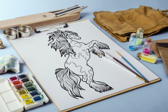 Coloring Pages Graceful Horses 12 Files Graphic Design