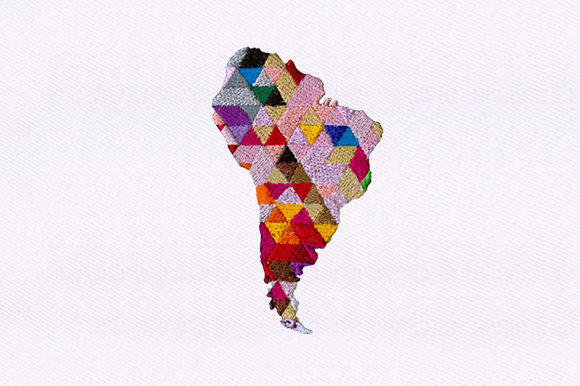 Continent Africa Map Africa Embroidery Design By DigitEMB