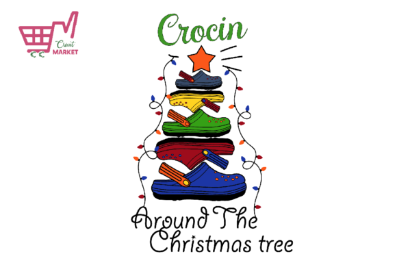 Print on Demand: Crocin Around the Christmas Tree Graphic Print Templates By Cricut Market