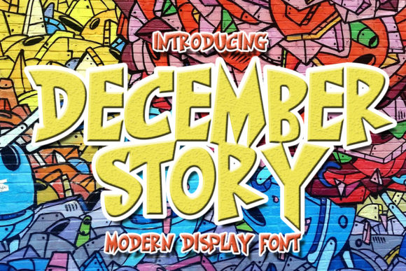 Print on Demand: December Story Display Font By Eddygoodboy