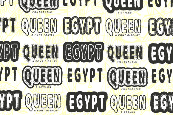 Print on Demand: Egypt Queen Display Font By FontCastle