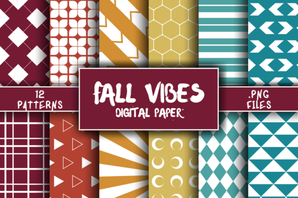 Print on Demand: Fall Vibes Pattern Digital Paper Graphic Patterns By atlasart