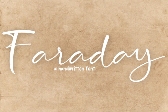Print on Demand: Faraday Script & Handwritten Font By insanurbahagia