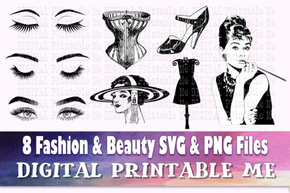 Print on Demand: Fashion Svg, Beauty Silhouette Makeup Graphic Crafts By DigitalPrintableMe