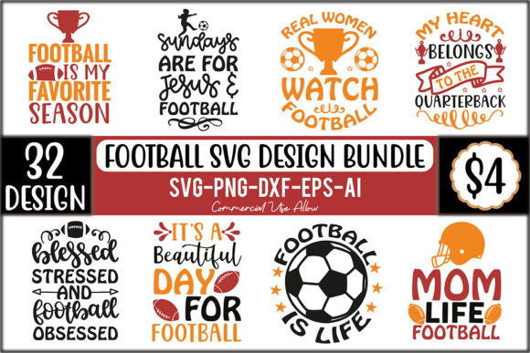 Football SVG Design Bundle  von craftstore