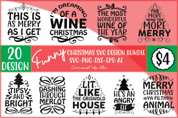 Funny Christmas SVG Design Bundle  von Printable Store