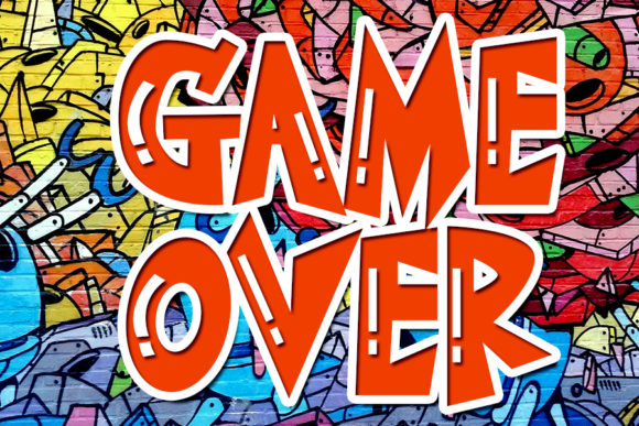 Print on Demand: Game over Display Font By Eddygoodboy