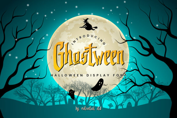 Print on Demand: Ghostween Display Font By motiontailstudio