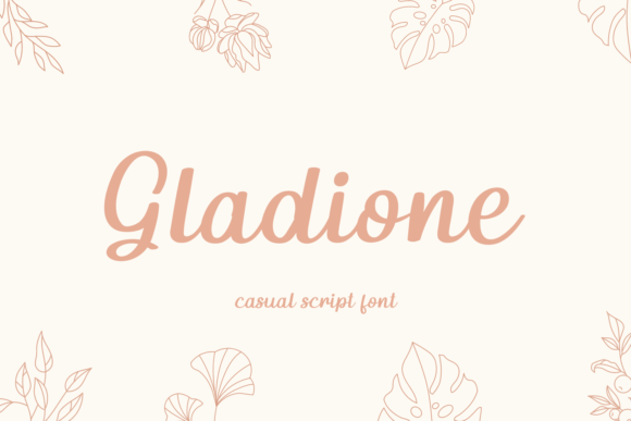Print on Demand: Gladione Script & Handwritten Font By josgandos