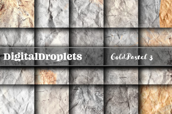 Gold Pastel 3 Graphic Backgrounds By digitaldroplets
