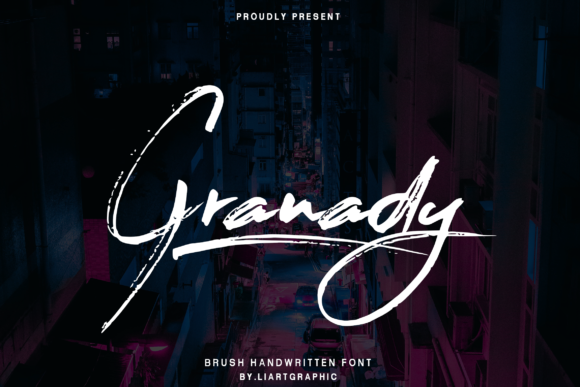 Print on Demand: Granady Script & Handwritten Font By sifak1726