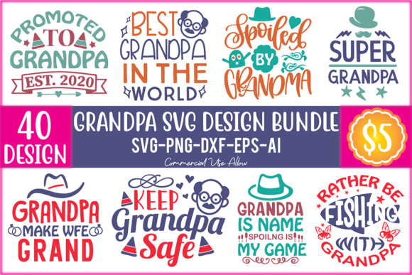 Grandpa SVG Design Bundle  von craftstore